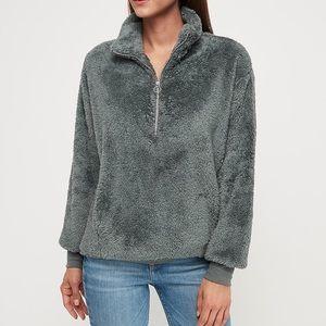 Express One Eleven Fleece Quarter ZIP Sweatshirt